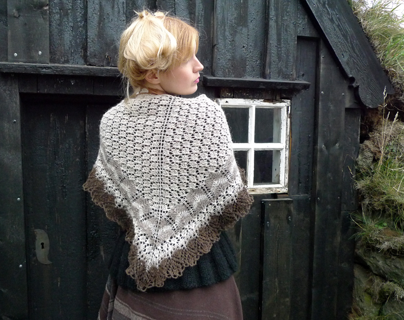 Icelandic modern lace shawl, Evelyn Clark