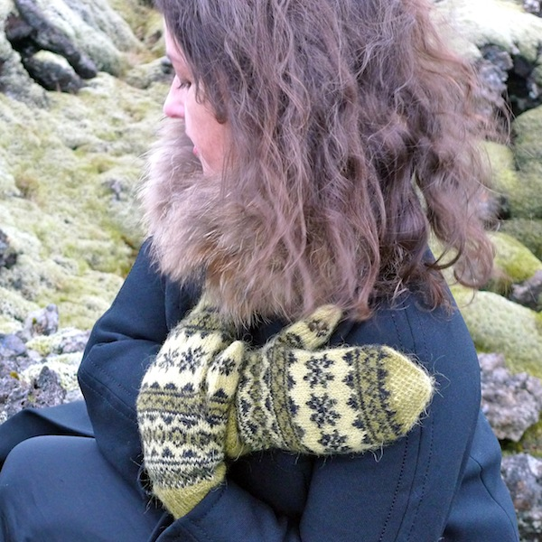 Mosi mittens: traditional Icelandic stranded mittens with Icelandic Gryla plied yarn (3)