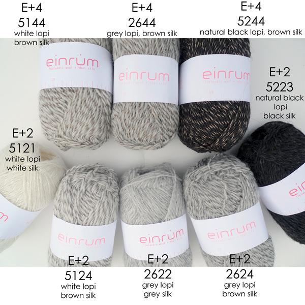 Einrúm: einband + silk - E+2 and E+4