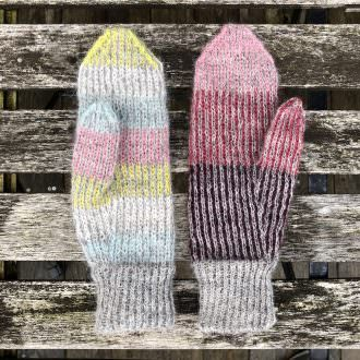 Lina mittens with Gilitrutt - knitting pattern