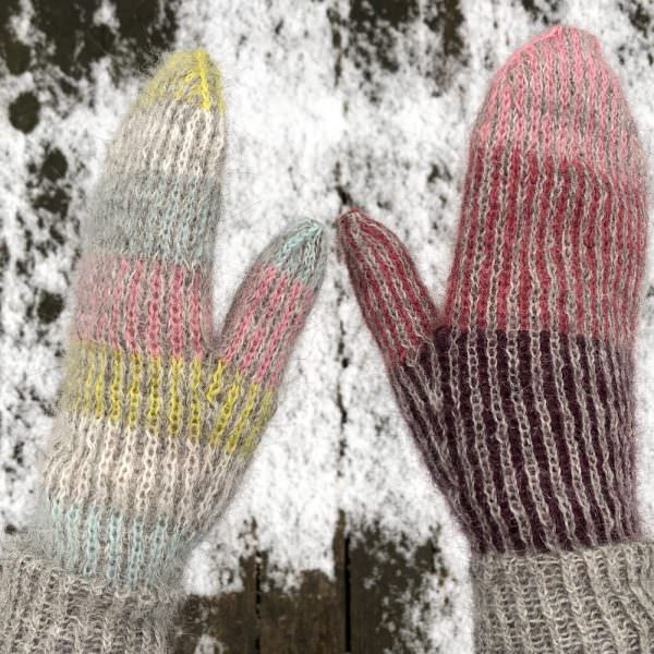 Lina mittens with Gilitrutt - knitting pattern and kits